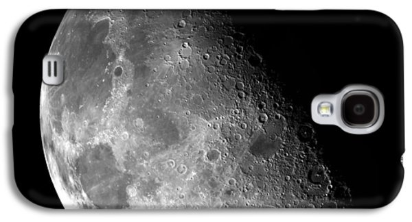 Man In The Moon Galaxy S4 Cases - Earths Moon in Black and White Galaxy S4 Case by The  Vault - Jennifer Rondinelli Reilly