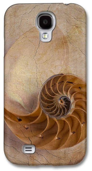 Warm Tones Galaxy S4 Cases - Earthy Nautilus Shell  Galaxy S4 Case by Garry Gay
