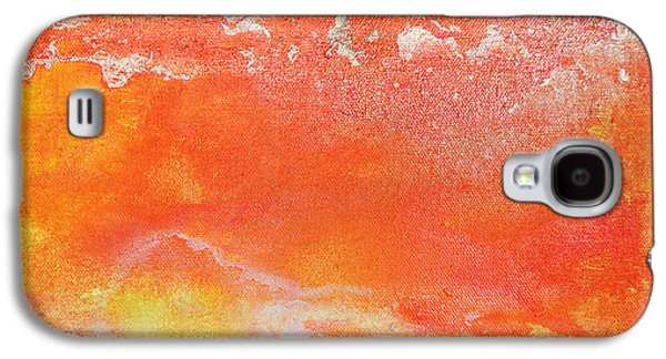 Surtex Licensing Galaxy S4 Cases - East End Sunset Orange and Gold Abstract Galaxy S4 Case by Anahi DeCanio