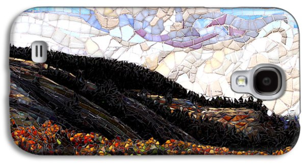 Landscapes Glass Art Galaxy S4 Cases - East of the Summit Galaxy S4 Case by Sandra Bryant