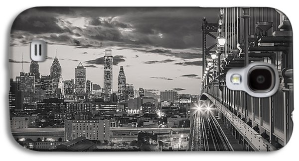 Downtown Franklin Galaxy S4 Cases - Eastbound Encounter in black and white Galaxy S4 Case by Eduard Moldoveanu