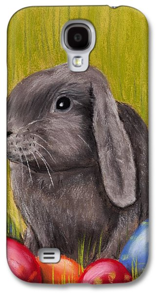 Religious Pastels Galaxy S4 Cases - Easter Bunny Galaxy S4 Case by Anastasiya Malakhova
