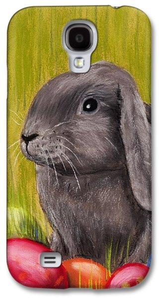 Religious Pastels Galaxy S4 Cases - Easter Bunny Galaxy S4 Case by Anastasiya Malakhova