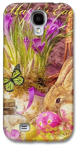Celebration Mixed Media Galaxy S4 Cases - Easter Bunny Galaxy S4 Case by Mo T