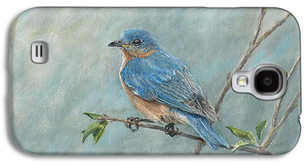 Ornithology Paintings Galaxy S4 Cases - Eastern Bluebird Galaxy S4 Case by Rob Dreyer AFC