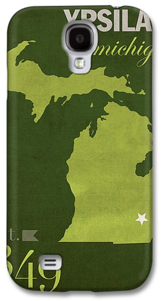 Eastern Michigan University Eagles Ypsilanti College Town State Map Poster Series No 035 Galaxy S4 Case by Design Turnpike
