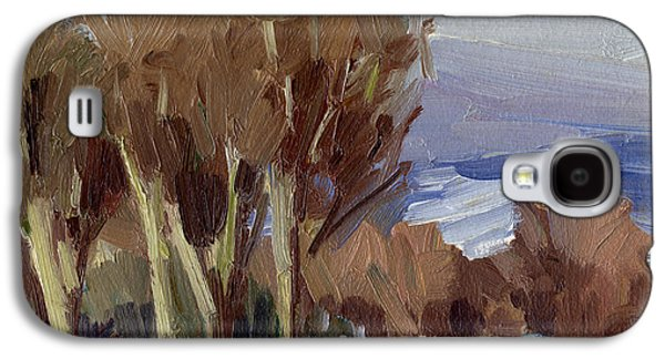 Winter Scene Paintings Galaxy S4 Cases - Eastern Washington Winter Galaxy S4 Case by Diane McClary