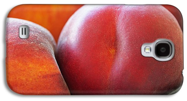 Peaches Galaxy S4 Cases - Eat a Peach Galaxy S4 Case by Rona Black