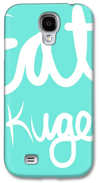 Eat Kugel - Blue And White Galaxy S4 Case by Linda Woods