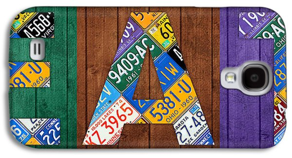 Eat Galaxy S4 Cases - EAT Lettering Sign Kitchen Dining Room Recycled Vintage License Plate Art Galaxy S4 Case by Design Turnpike