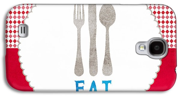 Lounging Galaxy S4 Cases - Eat Galaxy S4 Case by Linda Woods