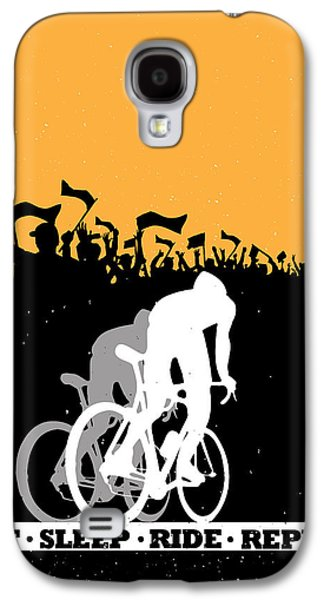 Shirt Galaxy S4 Cases - Eat Sleep Ride Repeat Galaxy S4 Case by Sassan Filsoof