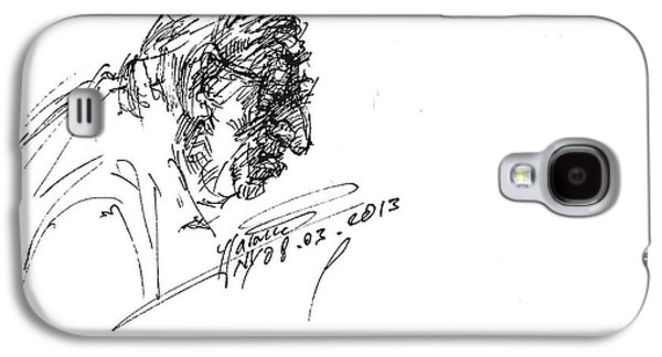 Head Drawings Galaxy S4 Cases - Eater Galaxy S4 Case by Ylli Haruni