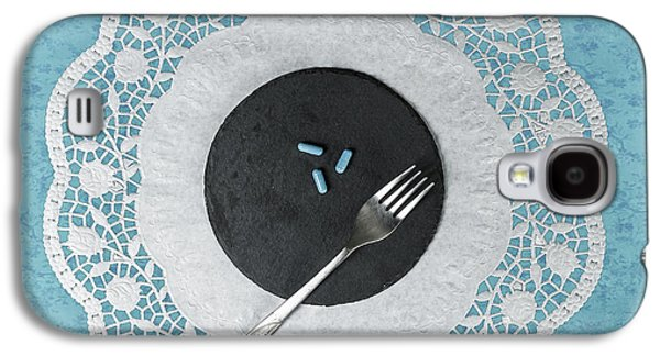 Table Cloth Galaxy S4 Cases - Eating Pills Galaxy S4 Case by Joana Kruse