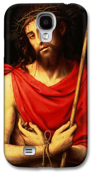 Jesus Photographs Galaxy S4 Cases - Ecce Homo Oil On Panel Galaxy S4 Case by Vicente Juan Macip