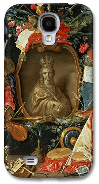 Music Score Galaxy S4 Cases - Ecclesia Surrounded By Symbols Of Vanity On Copper Galaxy S4 Case by Jan van, the Elder Kessel