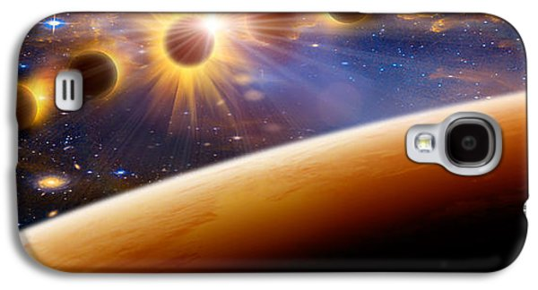 Solar Eclipse Galaxy S4 Cases - Eclipse Of The Sun Galaxy S4 Case by Panoramic Images