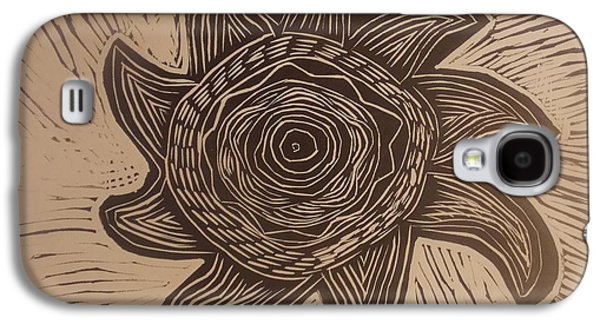 Linocut Drawings Galaxy S4 Cases - Eclipse of the sun Galaxy S4 Case by Stephen Wiggins