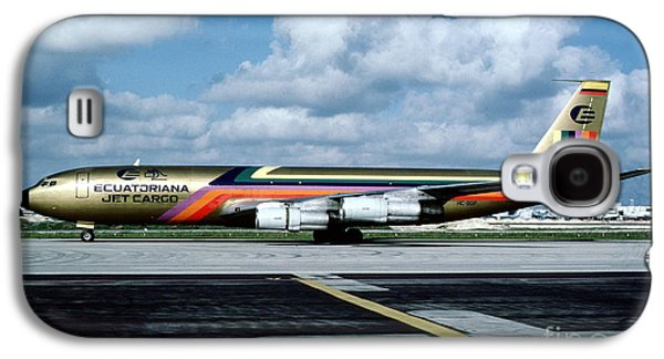 Fixed Wing Multi Engine Photographs Galaxy S4 Cases - Ecuatoriana Jet Cargo Boeing 707-321C HC-BGP Galaxy S4 Case by Wernher Krutein
