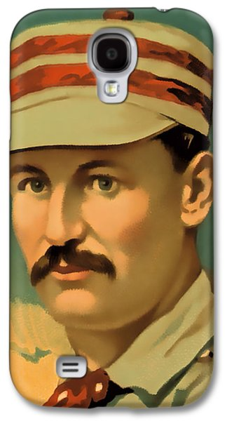 Quaker Galaxy S4 Cases - Ed Andrews Baseball Card Galaxy S4 Case by David Letts