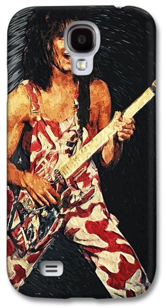 Van Halen Galaxy S4 Cases - Eddie Van Halen Galaxy S4 Case by Taylan Soyturk
