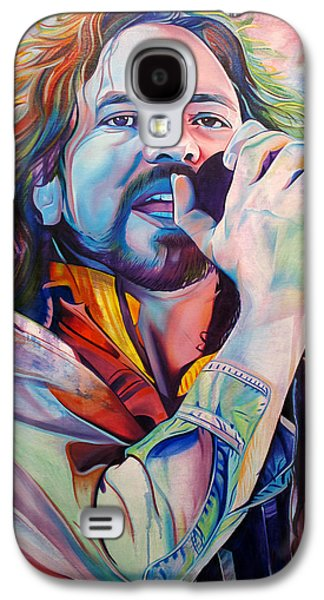 Grunge Galaxy S4 Cases - Eddie Vedder in Pink and Blue Galaxy S4 Case by Joshua Morton