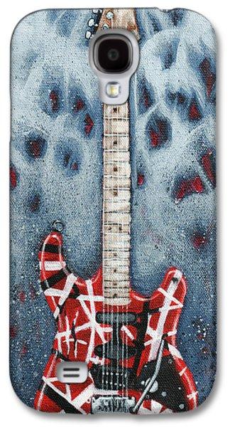Van Halen Galaxy S4 Cases - Eddies Frankenstrat Galaxy S4 Case by Arturo Vilmenay