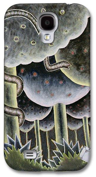 Serpent Galaxy S4 Cases - Eden, The First Exodus, 1989 Oil On Canvas Galaxy S4 Case by Celia Washington