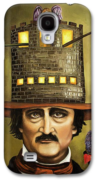 Brick Building Galaxy S4 Cases - Edgar Allan Poe Galaxy S4 Case by Leah Saulnier The Painting Maniac