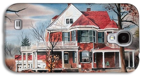 """""""haunted House"""" Galaxy S4 Cases - Edgar Home Galaxy S4 Case by Kip DeVore"""