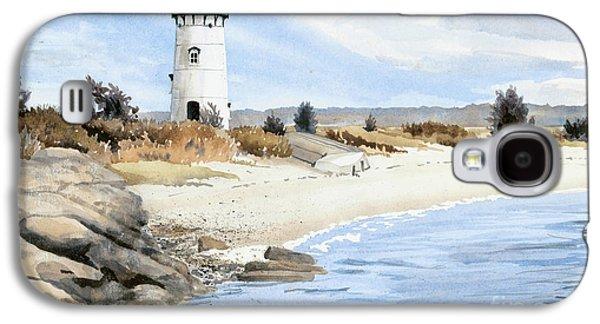 Edgartown Light - Marthas Vineyard Galaxy S4 Case by Steve Hamlin