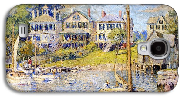 Martha Galaxy S4 Cases - Edgartown  Marthas Vineyard Galaxy S4 Case by Colin Campbell Cooper