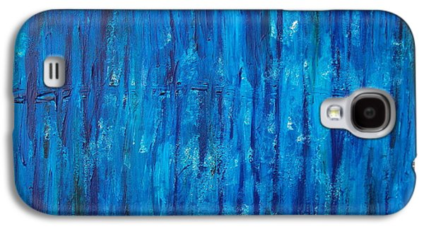 Slash Paintings Galaxy S4 Cases - Edge of the Earth Galaxy S4 Case by Sara Gardner
