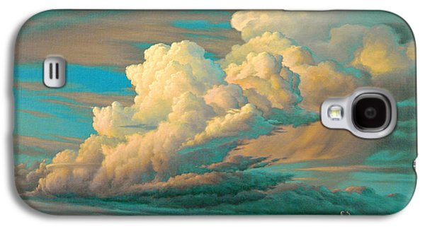 Wyoming Paintings Galaxy S4 Cases - Edge of the Prairie- Pronghorn Galaxy S4 Case by Paul Krapf