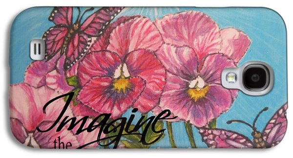 Imagine The Eternal Light Pansy Pinwheels Receive The Light From The Son Galaxy S4 Case by Kimberlee Baxter