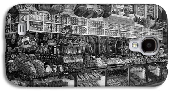 Grocery Store Galaxy S4 Cases - Edw. Neumann, Broadway Market, Detroit, Michigan, C.1905-15 Bw Photo Galaxy S4 Case by Detroit Publishing Co.