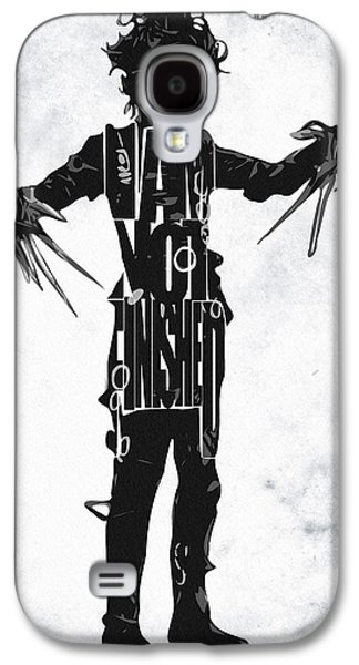 Edward Scissorhands - Johnny Depp Galaxy S4 Case by Ayse Deniz