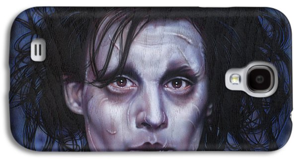 Airbrush Galaxy S4 Cases - Edward Scissorhands Galaxy S4 Case by Tim  Scoggins