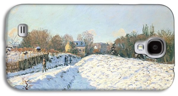 Winter Wonderland Galaxy S4 Cases - Effect of Snow at Argenteuil Galaxy S4 Case by Alfred Sisley