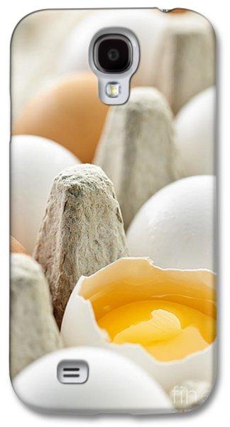 Cardboard Galaxy S4 Cases - Eggs in box Galaxy S4 Case by Elena Elisseeva