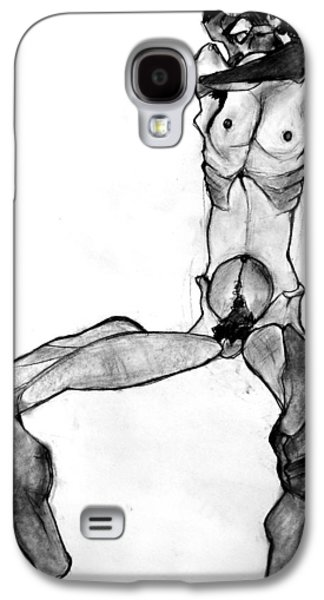 Creepy Pastels Galaxy S4 Cases - Egon Schiele Nude Galaxy S4 Case by Britt Kuechenmeister
