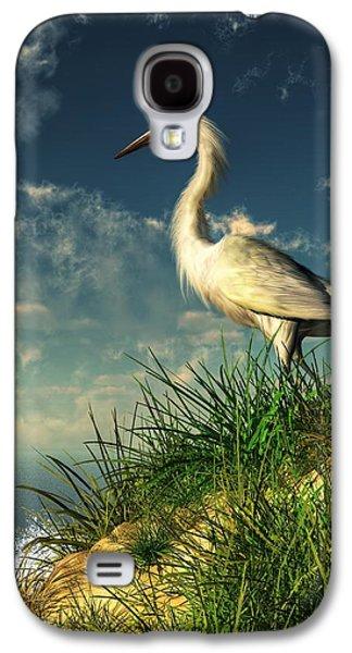 Egret In The Dunes Galaxy S4 Case by Daniel Eskridge