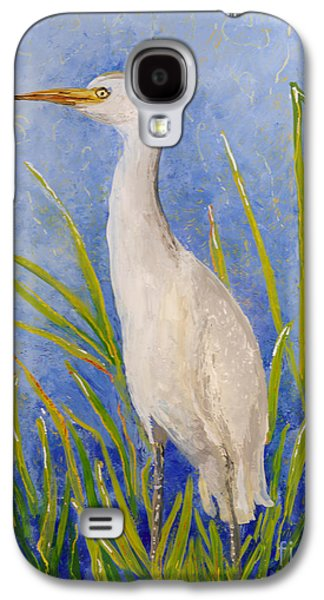 Graceful Glass Art Galaxy S4 Cases - Egret Morning Galaxy S4 Case by Anna Skaradzinska