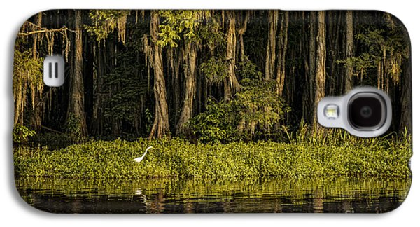 Tamyra Ayles Galaxy S4 Cases - Egret on Caddo Lake Galaxy S4 Case by Tamyra Ayles