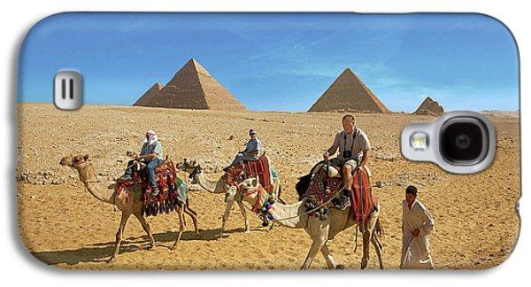 Egypt, Cairo, Giza, Tourists Ride Galaxy S4 Case by Miva Stock