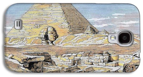 Egypt Pyramids And Sphinx Colored Galaxy S4 Case by Prisma Archivo