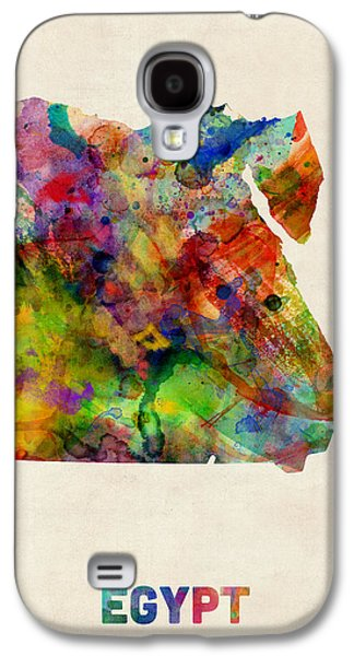 Maps - Galaxy S4 Cases - Egypt Watercolor Map Galaxy S4 Case by Michael Tompsett