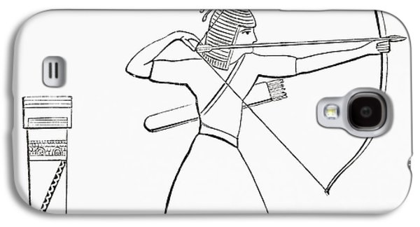 Ancient Galaxy S4 Cases - Egyptian Archer And Quiver.  From The Imperial Bible Dictionary, Published 1889 Galaxy S4 Case by Bridgeman Images
