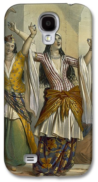 Dancing Girl Galaxy S4 Cases - Egyptian Dancing Girls Performing Galaxy S4 Case by Emile Prisse d