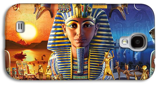 Egyptian Triptych 2 Galaxy S4 Case by Andrew Farley